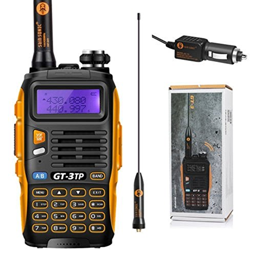 Baofeng POFUNG gt-3tp mark-iii tri-power 8/4/1 W 2-Wege Radio Transceiver, Dual Band 136–174/400–520 MHz True 8 W High Power 2-Wege-Radio, mit Upgraded Chip, 23 cm (22,9 cm) High Gain Antenne, KFZ-Ladegerät