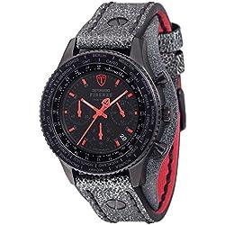 Detomaso Firenze Men's Quartz Watch with Red/Black Forza Di Vita Chronograph Quartz Leather DT1073Retro A