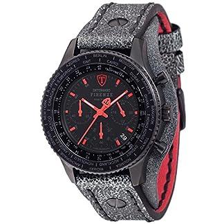 Detomaso Firenze–Reloj de Pulsera Retro con Cronógrafo, de Cuarzo, Acero Inoxidable DT1073-A