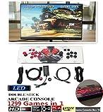 DODOING Video Spiel-Konsole, Arcade-Maschine 1299 Classic-Spiele, 2 Spieler Pandora es Box 5S mehr Spieler-Home Arcade-Konsole 1299 Spiele alle in 1 Spielkonsole mit HDMI und VGA Ausgang