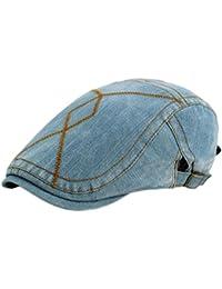 0241141ba1608 Leisial Hombre Boinas Vaquera Vintage Gorra con Visera Deporte al Aire  Libre Sombrero del Sol Sencilla Ocio Sombreros de Viajes para…