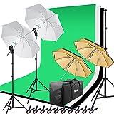 Hakutatz Profi Fotostudio Set Studioleuchte Studiosets Hintergrundsystem Lampenstativ Softbox Fotografie mit Schutztasche (Hihtergrundszsten I)