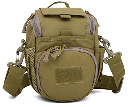 Freedom-vp Damen Herren Military Tactical Umhängetasche schlutertasche Kampf Crossbag für Radfahren Wandern Camping Freizeit Tasche (Schwarz) Braun