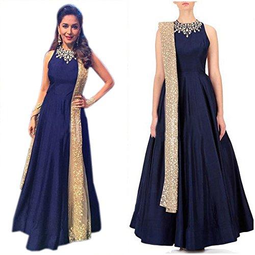 Astha bridal women blue gown( madhuri dixit blue gown_ blue colour_42)