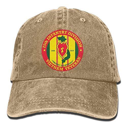 25th Infantry Division Vietnam Veteran Adjustable Baseball Caps Denim Hats Cowboy Sport Outdoor (25th Infantry Division Vietnam)