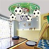 Moderne Zimmer der Mode Cartoon für Kinder Fußball Grün Holzdecke die Schlafzimmer Schlafzimmer junge Macher Deckenlampe Deckenlampen Laterne Lampen Studie