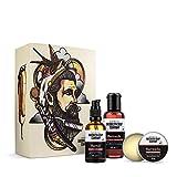 Brooklyn Soap Company: Travel Beard Bag · Hochwertiges Bartpflege-Set als Reise-Set für Männer mit gepflegtem Bart · Bartshampoo, Bartöl & Bartwachs ✓