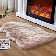EasyJoy Soft Faux Sheepskin Fur Chair Couch Cover Area Rug for Bedroom Floor Sofa Living Room 2 x 3 Feet 2 x 3