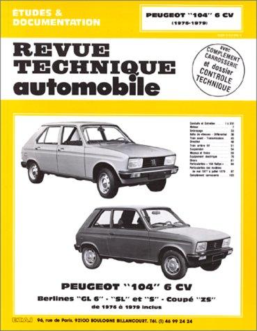 Revue Technique Automobile, numéro 371.3 Peugeot 104 6cv