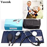 Generic Yusmk Medical Estetoscopio Doctor/Nurse Stethoscope Kit with Blood Pressure Cuff Measurment Fonendoscopio
