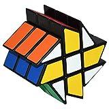 Hot Wheels Puzzle Cube Coolzon® Spécial Cubo Jouet de Vitesse Version Autocollant de PVC 57mm, Noir