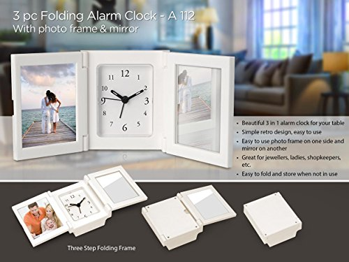 Occasions photo frame cum watch and a mirror alongwith for good times at your desk or dressing table Diwali Gift