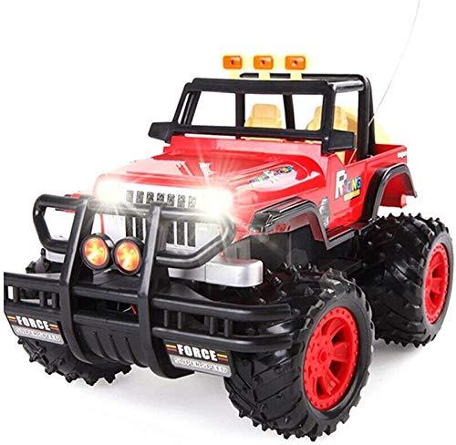 MECFIGH RC Car 01.14 2,4 GHz Super-kollisionssicherere Dasher Stunt Fahrzeug Wireless Remote Sound-Licht-Auto-4WD High Speed   Buggy Rock Crawler Monster for Kinder und Erwachsene Geschenk Red