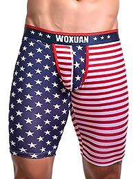 590fde765d Herren American Boxershorts mit Gummibund Boxershorts Baumwolle Men Herren  Unterhosen Männer Slip Unterwäsche Flag Sexy Striped