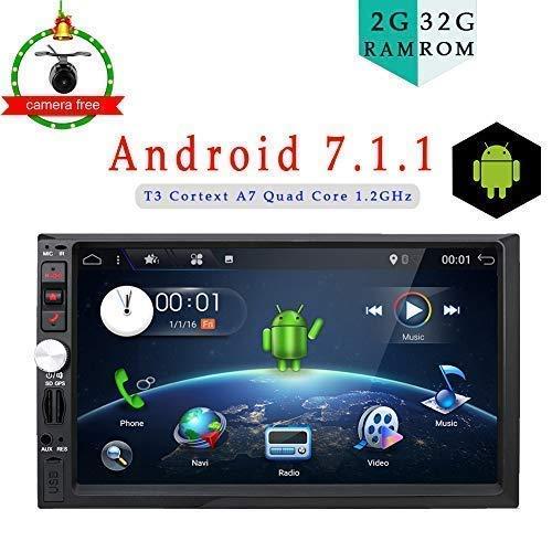 2 GB di RAM 32 G ROM Android 6.0 6.2 inch lettore multimediale di navigazione stereo per universale Quad Core Android matrimoniale 2 DIN autoradio lettore DVD/CD unità di testa non comprende cam
