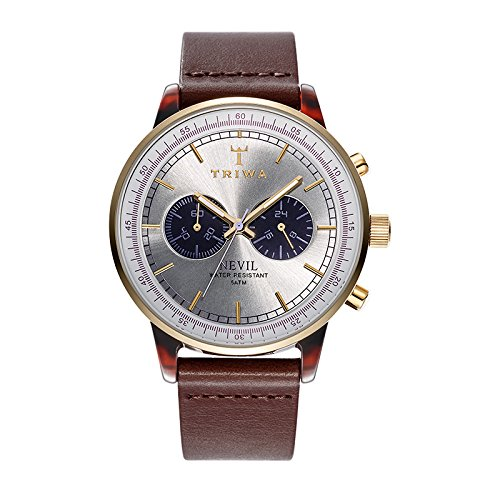 Triwa Mens Nevil Brown Leather Strap NEAC109-CL010313