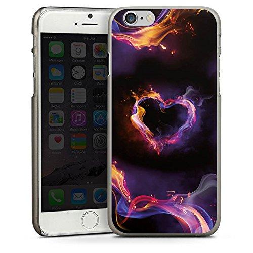 Apple iPhone 5s Housse Étui Protection Coque Amour Amour C½ur CasDur anthracite clair