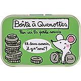 Derrière la Porte Loulou - Cajita para dientes de leche, diseño de ratón y monedas, con texto en francés