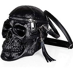 ZYLL De bandolera de un solo hombro para mujer, divertido, material de silicona, negro
