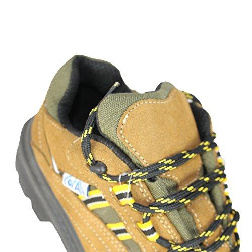 COFAN Model K1S1P Chaussures de trekking Chaussures de sécurité plat marron Marron - Marron