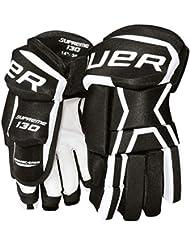Bauer Supreme 130 guantes de hockey para adulto multicolor negro/blanco Talla:14 pulgadas