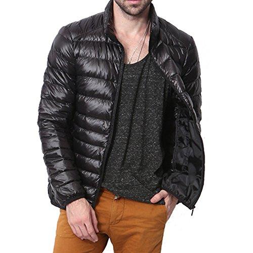 Highdas Nouvelle Ultra L¨¦ger Hommes 90% Canard Blanc Down Jacket Winter Sport Outdoor Duvet Canard Doudoune Parkas Manteaux Noir