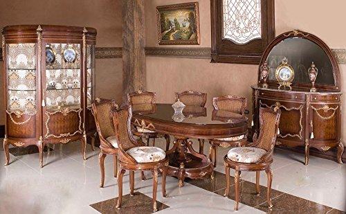 Copia di sala da pranzo barocco stile antico vetrina credenza ...