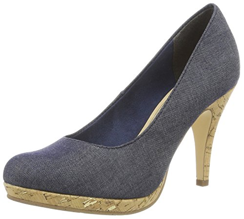 Tamaris Damen 22407 Pumps, Blau (Navy Jeans 807), 36 EU