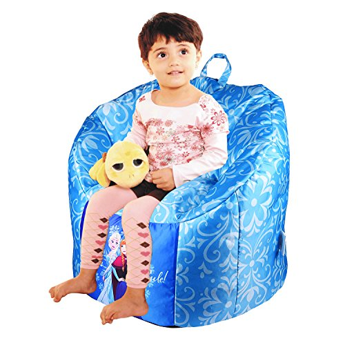 ORKA Anna & Elsa Digital Printed Kids Boss Chair Filled with Beans  available at amazon for Rs.1999