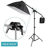 Neewer fotografía Dual Swiveling Grip Head abrazadera de ángulo de pívot Conector para Boom y Reflector brazo
