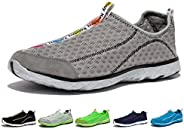 KENSBUY Men's Water Shoes Breathable Mesh Quick Drying Anti-Slip Walking Sne
