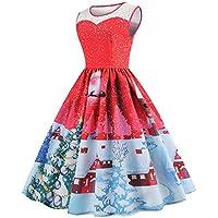 Biback Vestido De Cóctel De Flare De Las Mujeres Vestido De Fiesta De Navidad Vestido De La Manera