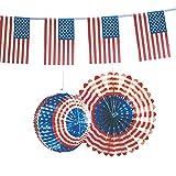Kogler USA Deko-Set in Tasche, Karton, Papier, blau/weiß/rot, 30x 30x 30cm