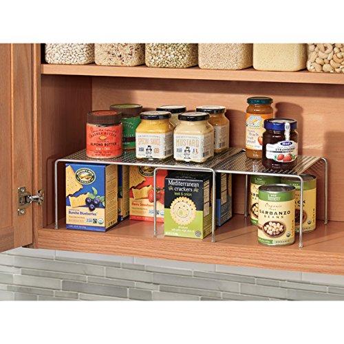 Mdesign porta piatti e porta stoviglie allungabile scaffale cucina salvaspazio ideale per - Scaffale cucina ...