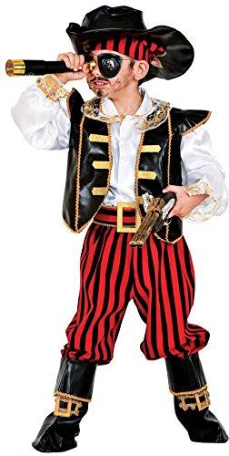 Costume di carnevale da pirata dei caraibi baby vestito per bambino ragazzo 1-6 anni travestimento veneziano halloween cosplay festa party 1057 taglia 4