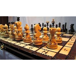 ChessEbook PEARL 34 – Ajedrez de Madera, Tablero de 34 x 34 cm