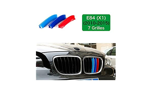 //////M-Colored Stripe Grille Insert Trims Front Grill Stripes Covers For 2010-2015 BMW E84 X1 Center Kidney Grilles 7 Beams