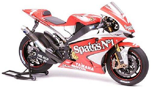 Tamiya 14100 - Maqueta Para Montar, Motocicleta Yamaha YZR-M1 Año 2004 Pilotos 7 Carlos Checa y 33 Marco Melandri Escala 1/12
