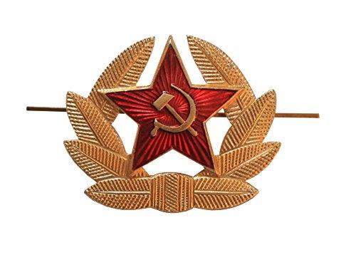 Ganwear® Militärabzeichen/Hutanstecker in Rote Armee-Design (Hammer & Sichel vor rotem Stern) (Russische Abzeichen)