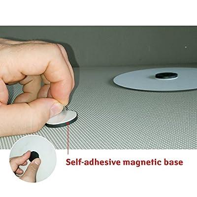 Tatkraft CHANGE Selbstklebender magnetischer Rasier und Make-up Spiegel, Einfache Montage Ø 15cm