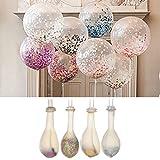 Hjuns 20pcs 30,5cm Multicolore Confettis décoratifs Ballon Helium épaissir en forme de poire en latex Transparent Ballon en mousse pour fête d'anniversaire fête de mariage