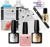 CND SHELLAC Starter Kit - Top, Base, Essenstial + Color - Nude Knickers, 500 ml