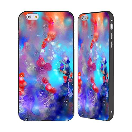 Ufficiale Runa Fiori Magici Barriere Del Mare Nero Cover Contorno con Bumper in Alluminio per Apple iPhone 5 / 5s / SE Corallo