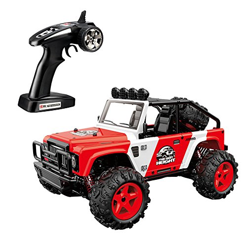 SZJJX RC Trucks, 45KM/H+ High Speed Racing Remote Control Monster Cars 1/22 Scale 4WD 2.4Ghz Radio Controlled Off-Road Vehicle Rock Crawler Fast Electric Desert Buggy SJ1511 (Red)