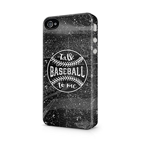 Maceste Baseball Talk to Me Kompatibel mit iPhone 4 / iPhone 4S SnapOn Hard Plastic Phone Protective Fall Handyhülle Case Cover (Baseball Iphone 4 Fall)