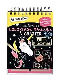 Coloriage Licorne Cultura.Mon Livre De Coloriage Magique A Gratter Filles Licornes