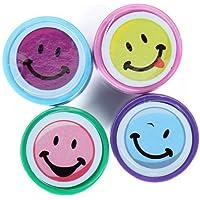 Sonline 4pcs Tinta de Stamper Arte Artesania Sellos de Sonrientes Caras