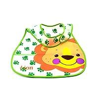 HuaYang Cartoon Style EVA Plastic Infant Bib Waterproof Baby Pinny 0-6 years Feeding Care(Random Color)(Lion)