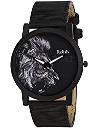 RELISH RE-S8065BB Black Slim Analog Watches For Men's And Boy's