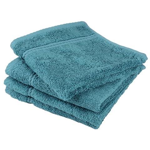 Luxury Soft Bamboo Bathroom Bath Linen Face Cloth Flannel Towel 30 x 30cm - Teal